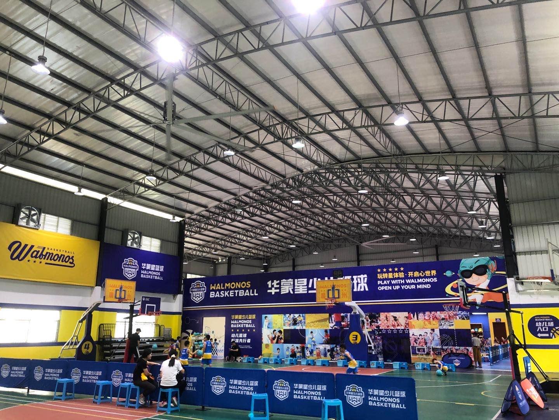 篮球馆大风扇