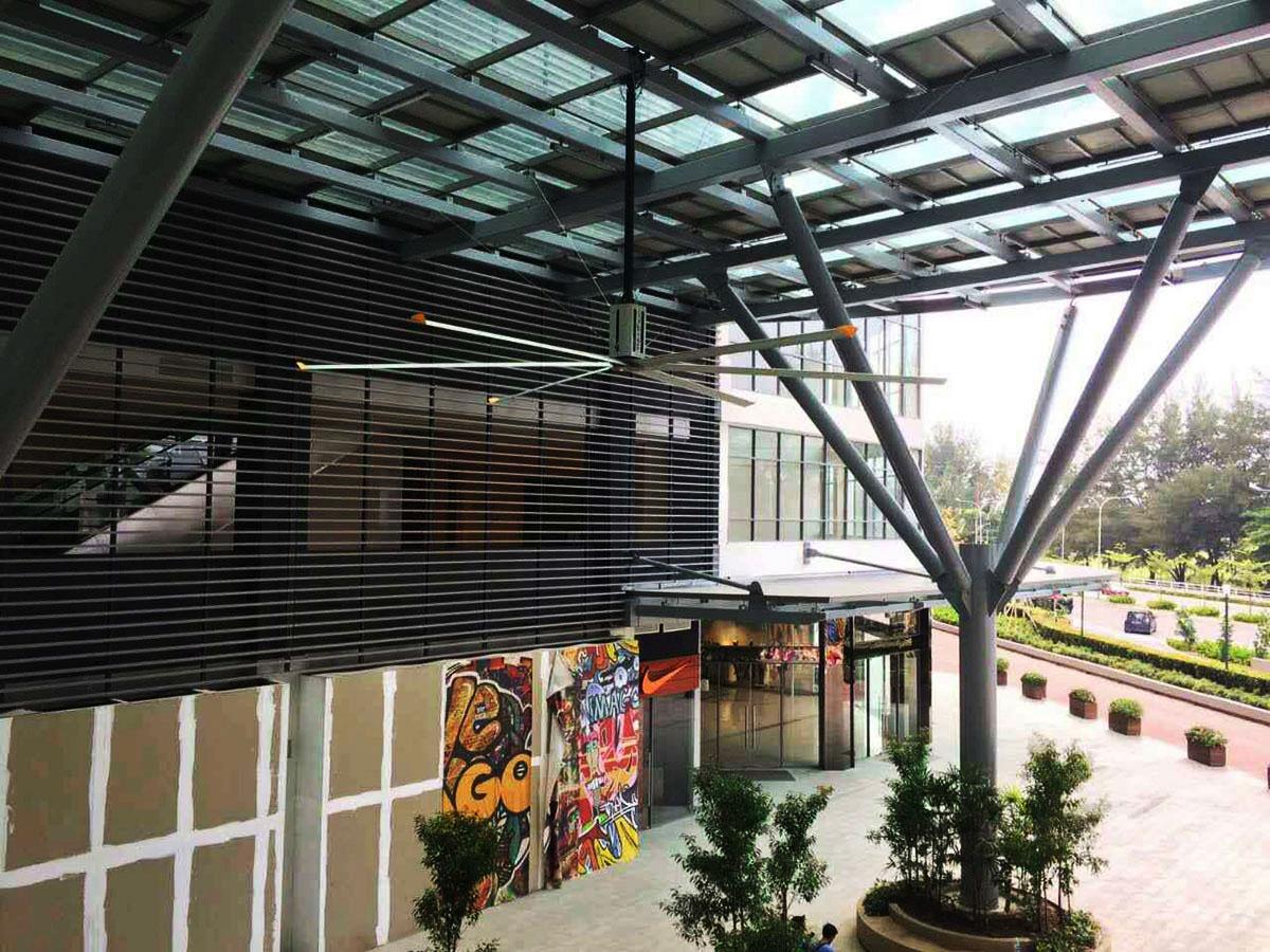 工业大风扇的应用--商业中心