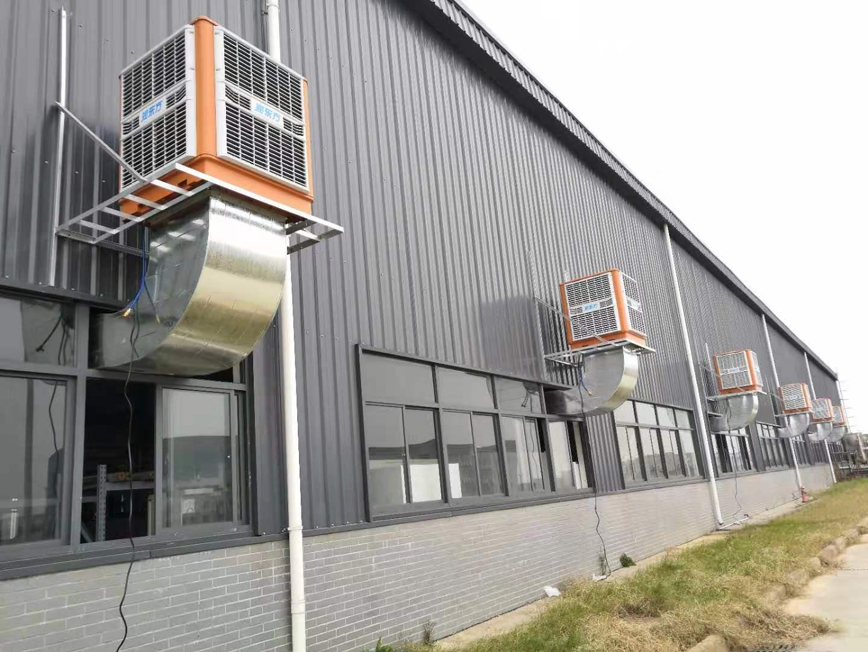 武汉某上市企业的钢结构厂房的通风竞博jbo首页工程顺利完工,提前为明年做准备!